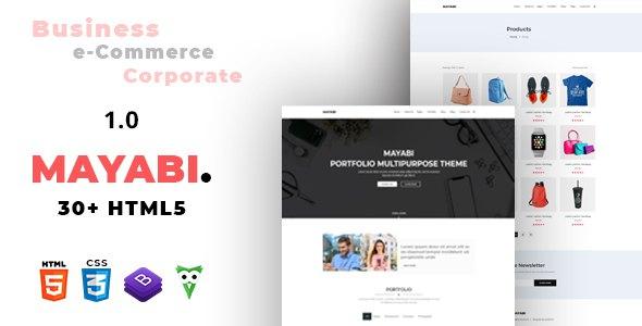 Mayabi - Multipurpose Portfolio/Business HTML5 Template        TFx Rolf Jude