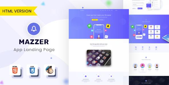 Mazzer - HTML5 App Landing Page        TFx Scottie Wickaninnish