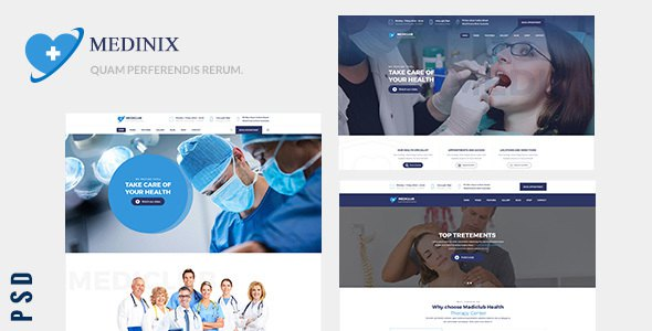 Medinix - Medical And Health Care PSD Template        TFx Sukarno Kade