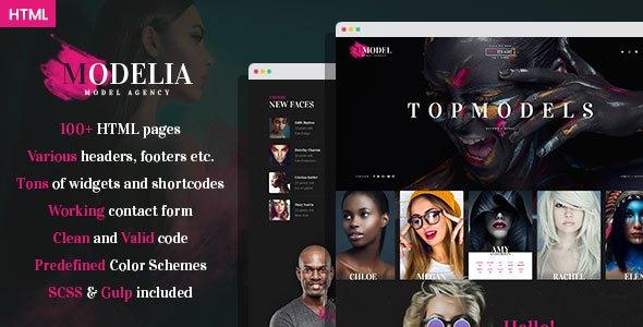 Modelia - Modeling Agency HTML Template      TFx Constantine Esme