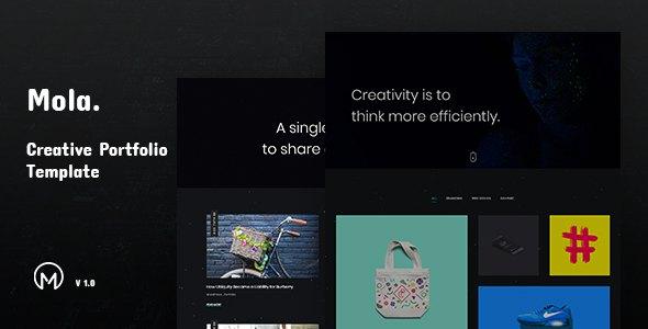 Mola - Creative Minimal Portfolio Template        TFx Frank Corey