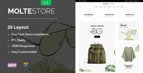 Molte - Store Fashion and Food WooCommerce Theme        TFx Trevor Lonny