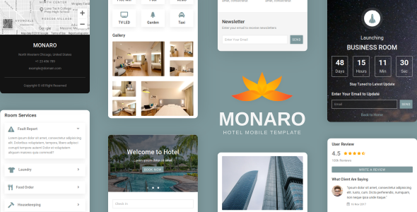 Monaro - Hotel Mobile Template      TFx Flannery Rickie