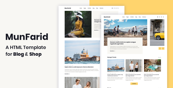 Munfarid - A HTML Template For Blog & Shop        TFx Walt Kouki