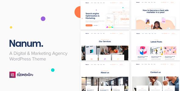Nanum — Digital & Marketing Agency WordPress Theme        TFx Den Camden