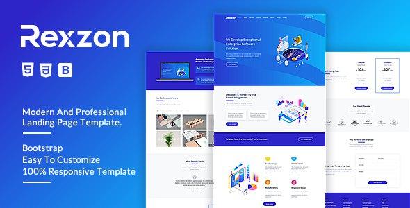 Rexzon - Responsive Software HTML5 Landing Page Template      TFx Quintilian Nat