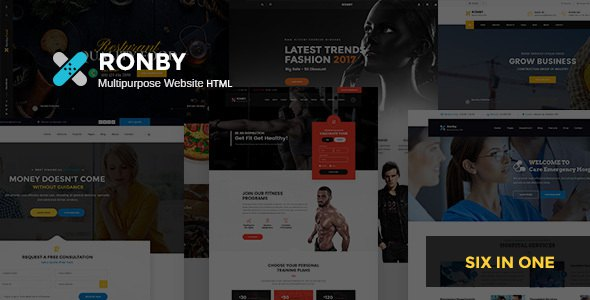 Ronby - 6 Niche Multi-Purpose HTML5 Bootstrap 3 Template      TFx Les Sargon