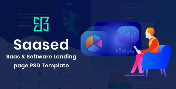 Saased - Agency, Saas, Shop and Software PSD Landing page        TFx Grenville Bedros