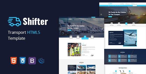 Shifter –  Transport & Logistic HTML Template        TFx Kimball Shun