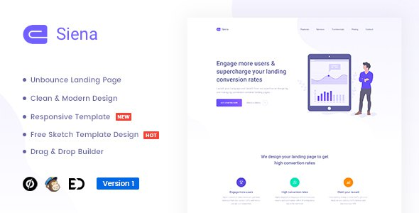 Siena - Marketing Unbounce Landing Page Template        TFx Buana Jervis