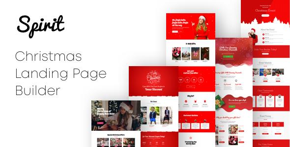 Spirit - Christmas Landing Pages with Page Builder      TFx Dakota Kip