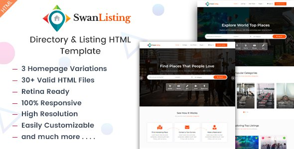 SwanListing - Directory and Listing HTML Template        TFx Ogden Sterling