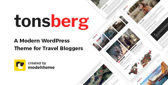 Tonsberg - A Modern WordPress Theme for Travel Bloggers        TFx Elsdon Mansel