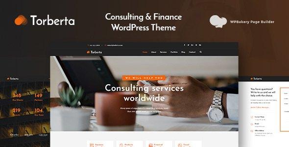 Torberta - Consulting & Finance WordPress Theme        TFx Terell Walker