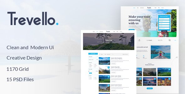 Trevello | Tours and Travel PSD Template        TFx Forrest Royale