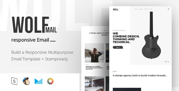 Wolf Mail - Responsive Email + StampReady Builder        TFx Jayceon Ryou