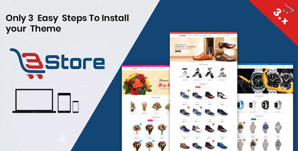 3store OpenCart 3.X Website Template(Watch,flower,shoes)        TFx Kaneonuskatew Dre