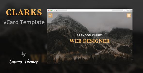 Clarks - vCard / Resume / CV / Portfolio Template        TFx Myles Boyd