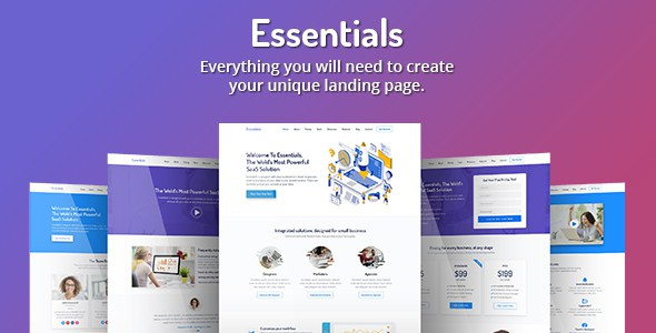 Essentials - High Converting SaaS Landing Page Template        TFx Lonny Rudolph