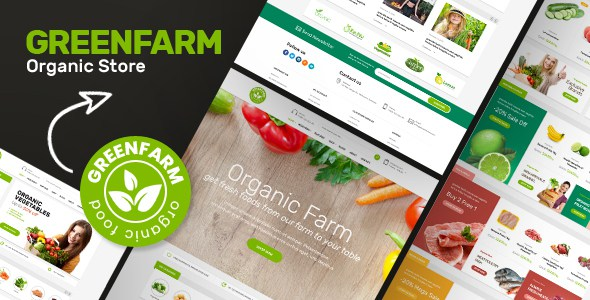 Greenfarm - Organic Food eCommerce Shopify Theme        TFx Errol Eugene