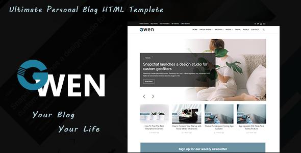 Gwen - Ultimate HTML Blog Template        TFx Irwin Denver