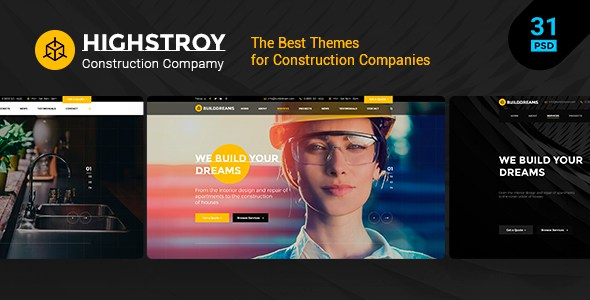 HIGSTROY   Construction & Architecture PSD Template        TFx Emery Branson