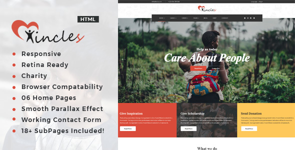 Incles - Responsive HTML Template for Charity & Fund Raising        TFx Emmet Woodrow