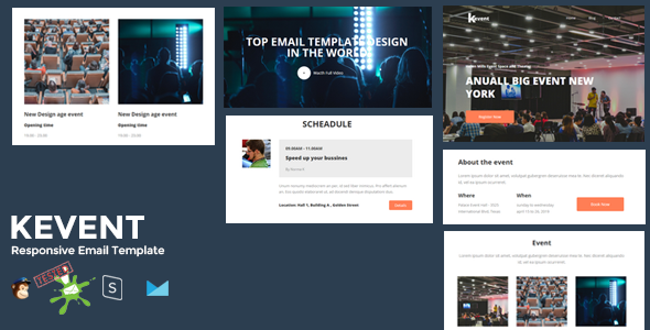 KEVENT - Best Responsive Event Email Template + Online Stampready Builder        TFx Galen Terance