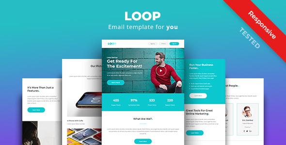 Loop - Multipurpose Responsive Email Newsletter Template        TFx Citlalli Haydn