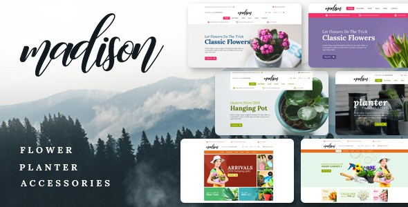 Madison - Floral, Plant, Beauty , Garden tools, Food, Nursery Shopify Theme        TFx Royale Roswell