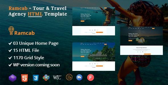 Ramcab - Tour & Travel Booking Bootstrap4  HTML Template        TFx Vosgi Harris