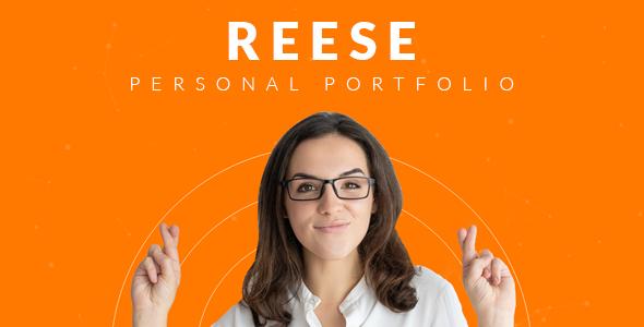 Reese – Bootstrap 4 Personal Portfolio        TFx Daryl Rob