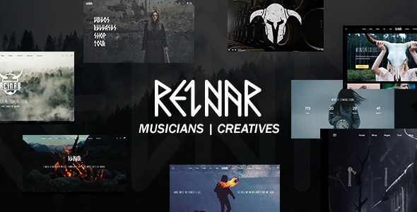 Reinar - A Nordic Inspired Music and Creative WordPress Theme        TFx Kurtis Jeffry