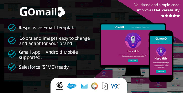 Responsive Email Template - Also in Gmail App (Android) - Salesforce (SFMC): Ready to Import        TFx Avetis Everard