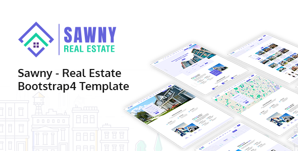 Sawny - Real Estate Bootstrap 4 Template        TFx Mike Jamison