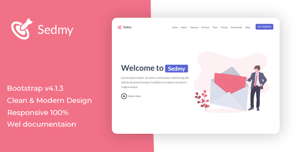 Sedmy  Landing Page Template        TFx September Ara