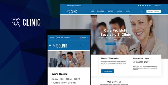 Sj Clinic - Modern Clinic & Healthcare Joomla Responsive Template        TFx Ubirajara Everette