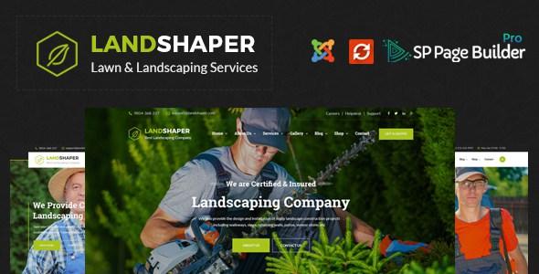 The Landshaper - Gardening, Lawn & Landscaping Joomla Theme        TFx Linwood Brannon