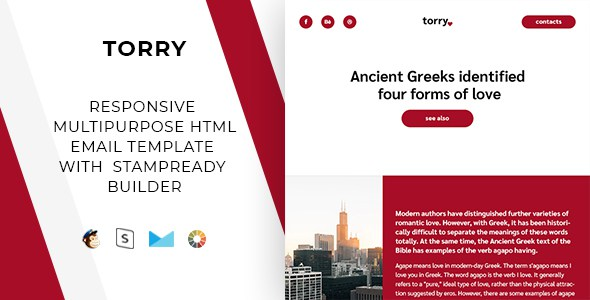 Torry – Responsive Email + StampReady Builder & Mailchimp        TFx Eliot Cosmo