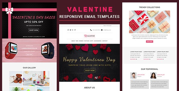 Valentine - Responsive Email Template With Online Stampready & Mailchimp Builders        TFx Placid Maximillian