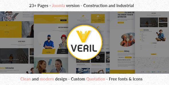 Veril - Construction and Industrial Joomla Template        TFx Karen Qillaq