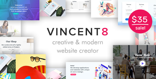 Vincent Eight | Responsive Multipurpose WordPress Theme        TFx Barrett Desmond