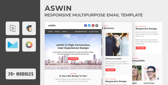 asWin - Email Newsletter Template        TFx Aloysius Roscoe