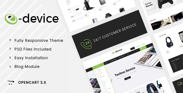 eDevice - OpenCart 3.x Responsive Theme        TFx Roswell Clem
