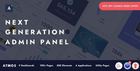 Atmos- Next Generation Admin Panel Design        TFx Kenelm Garland