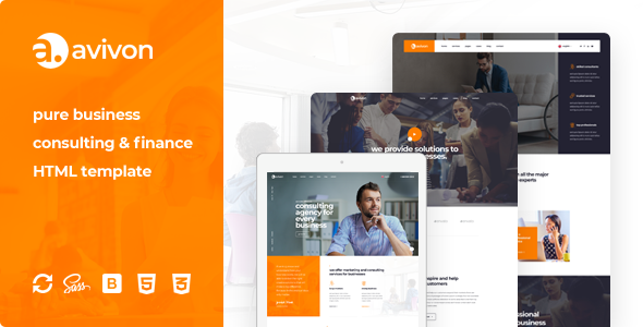 Avivon - Pure Business Consulting & Finance HTML5 Template        TFx Korey Sargis