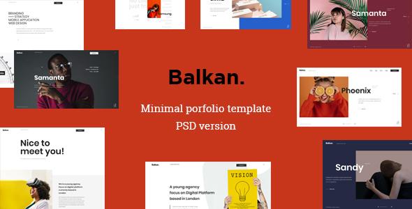 Balkan - Minimal portfolio PSD template        TFx Colin Ike