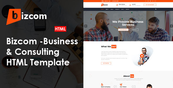 Bizcom - Consulting & Business HTML Template        TFx Plutarch Carlton