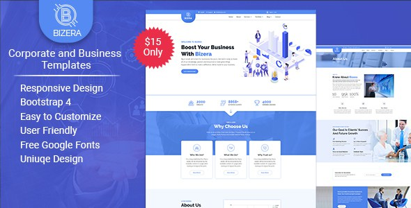 Bizera – Corporate and Business HTML Templates        TFx Gorou Aram