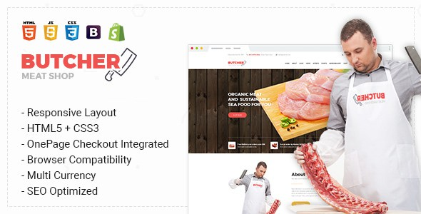 Butcher - Responsive & Multipurpose Bootstrap Sectioned Drag & Drop Shopify Theme        TFx Innocent Rudy